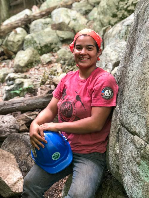 Conservation Corps Crew Member Nicole Vargas. Photo by Heather Darley.