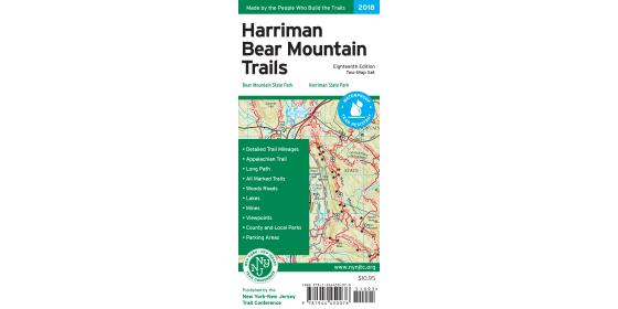 Harriman-Bear Mountain Map 2018 Map Cover